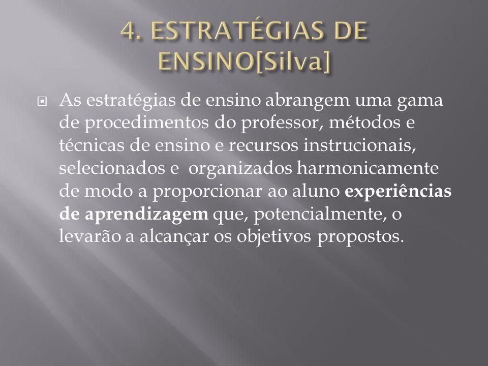4. ESTRATÉGIAS DE ENSINO[Silva]